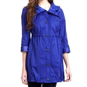 NEW Marc New York blue long raincoat/jacket size S
